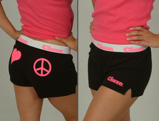 Peace & Love Cheer Shorts #UT16905